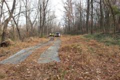 sewer easement work