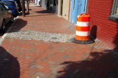 Prior to brick restoration