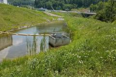 Storm water detention pond