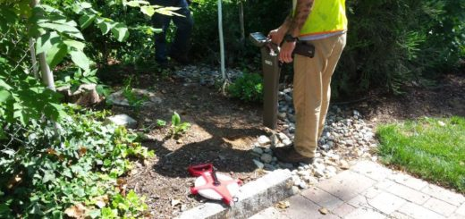 Finding a buried manhole